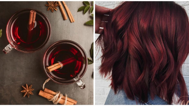 Boja kuhanog vina idealna je zimska boja za vašu kosu